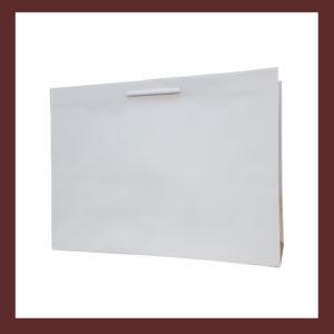 Laminowana torba papierowa biała t8