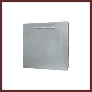 laminowana torba papierowa srebrna cd