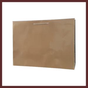 laminowana torba papierowa złota t7, białe torby laminowane, torby papierowe solidne, eleganckie torby bez nadruku