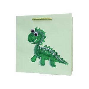 torby dla dzieci, nowy wzór dinozaur, torby papierowe wzory dziecięce