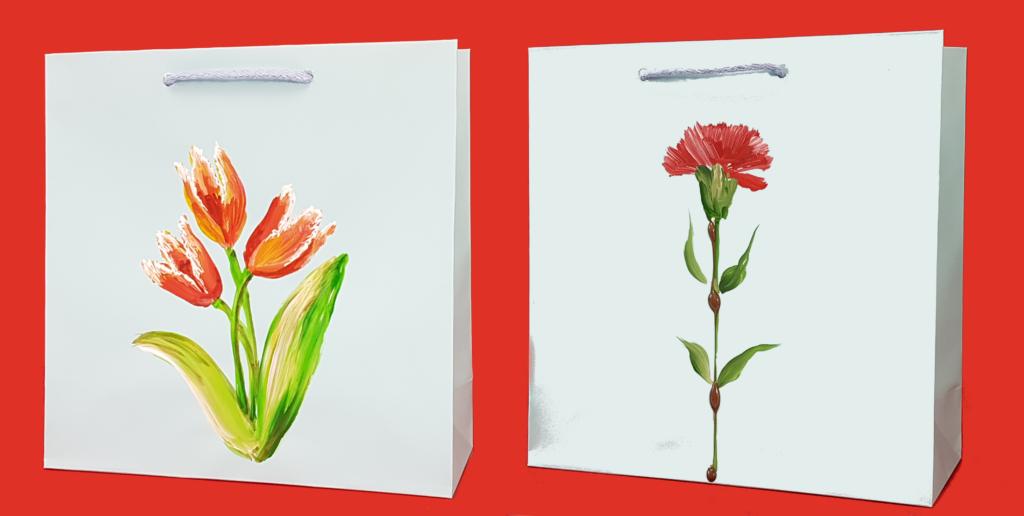 producent toreb papierowych dzień kobiet goździki tulipany torby, prezent, mer plus