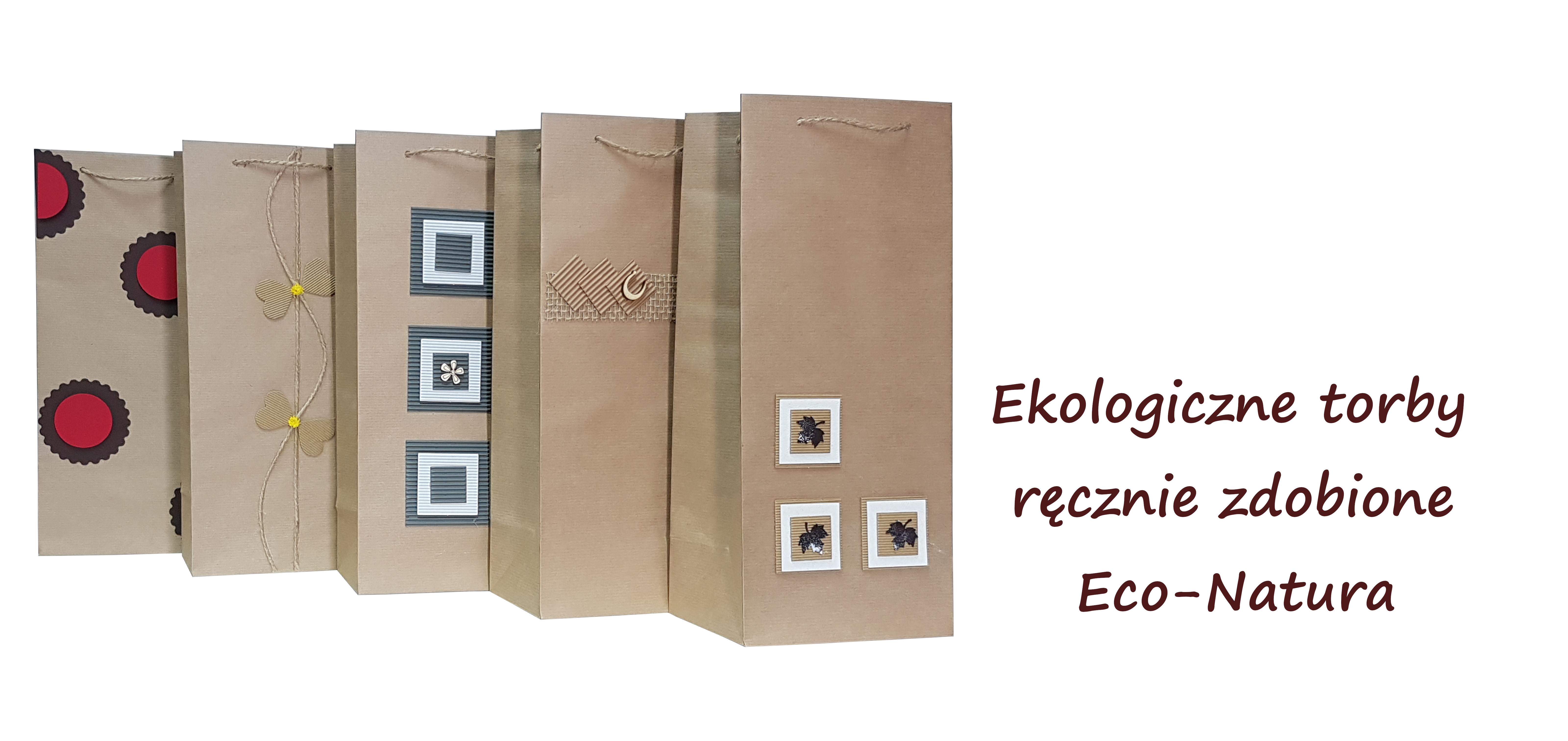 ekologiczne torby papierowe ręcznie zdobione