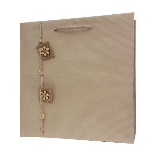 eco ręcznie zdobione torby papierowe 2 kwiatki