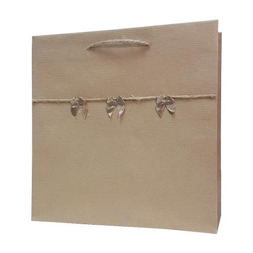 eco ręcznie zdobione torby papierowe kokardki