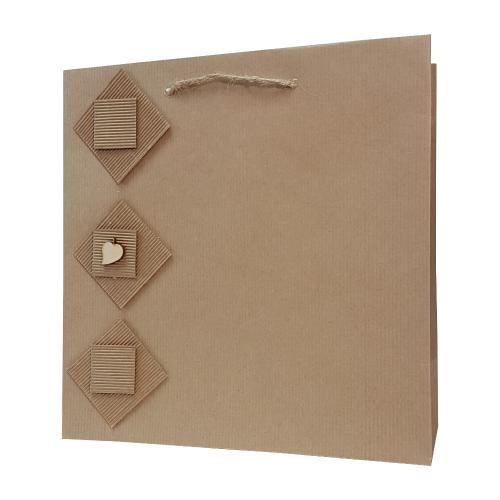 eco ręcznie zdobione torby papierowe kwadrat liść