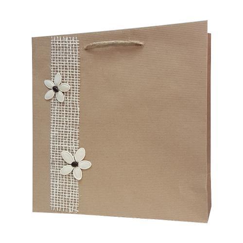 eco ręcznie zdobione torby papierowe kwiatki,kawa