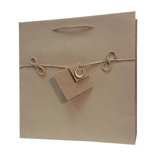 eco ręcznie zdobione torby papierowe podkowa