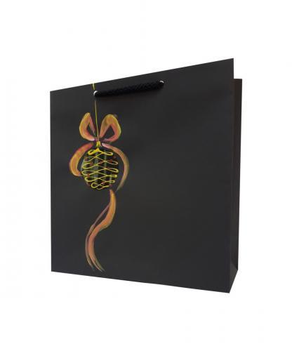 torba+papierowa+bobka ze wstążką+czarna+święta