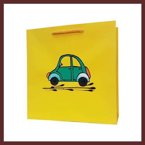 torby dla dzieci, auto dziecięce torebki papierowe, torby na prezent dla dziecka, ręcznie malowane, hand made