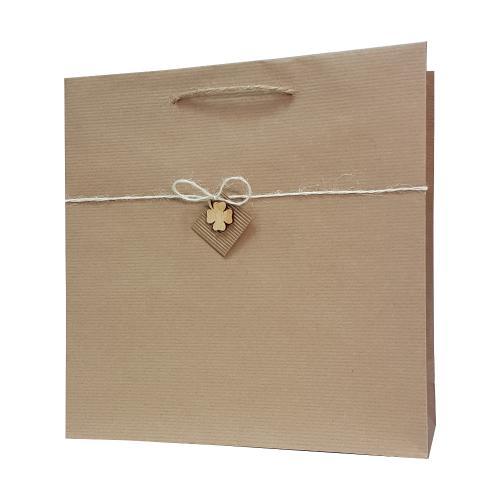 eco ręcznie zdobione torby papierowe wisząca koniczyna